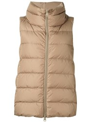 Herno Padded Vest Nude Neutrals