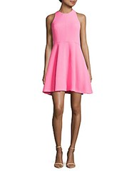 Sandro Raggy Fit And Flare Dress Pink