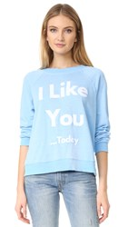 Wildfox Couture There's Always Tomorrow Sweatshirt Pool Blue