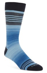 Lorenzo Uomo Space Dye Striped Socks Royal Blue