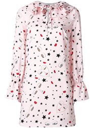 Vivetta Stars Print Shift Dress Pink Purple