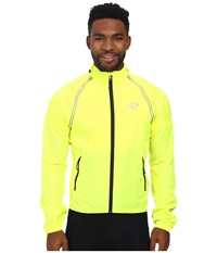 Pearl Izumi Elite Barrier Convertible Cycling Jacket Screaming Yellow Men's Coat