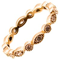 Haathi House Ornate Diamond Eternity Ring Rose Gold