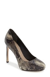 Via Spiga Women's 'Siena' Platform Pump Flint Snake Print Leather