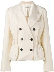 Dries Van Noten Double Breasted Jacket White