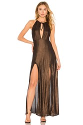 Wyldr Out Of My League Dress Metallic Bronze