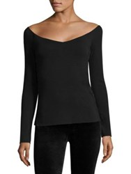 Bailey 44 Tracking Shot Off Shoulder Lace Up Top Black