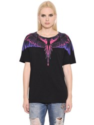 Marcelo Burlon Feather Print Cotton Jersey T Shirt