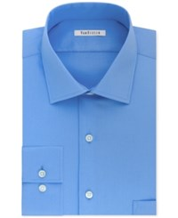 Van Heusen Men's Classic Regular Fit Stretch Solid Dress Shirt Blue Frost