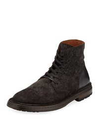 John Varvatos Venice Suede Leather Lace Up Boots Charcoal