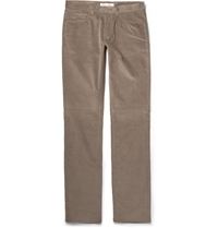 Loro Piana Cotton And Cashmere Blend Corduroy Trousers Gray