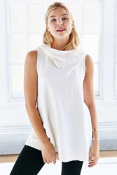 Truly Madly Deeply Funnel Hood Tank Top Neutral