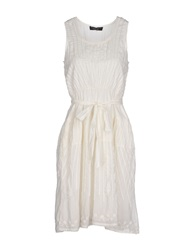 Twin Set Simona Barbieri Knee Length Dresses White