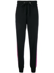 No Ka' Oi Side Stripe Track Pants Black