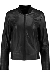 Karl Lagerfeld Eden Leather Bomber Jacket Black