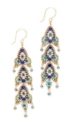 Miguel Ases Tara Earrings Blue Multi