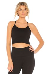 Beyond Yoga Slim Racerback Cropped Tank Black