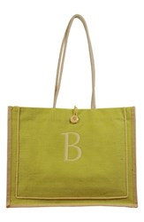 Cathy's Concepts 'Newport' Personalized Jute Tote Green Green B