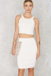 Nasty Gal Body Conversation Pencil Skirt White