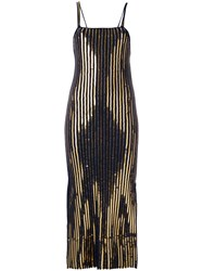 Cedric Charlier Long Ribbed Knit Dress Blue