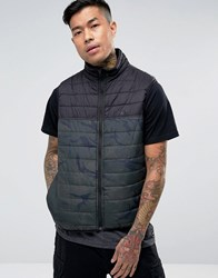Element Puff Gilet In Camo With Reflective Logo Black