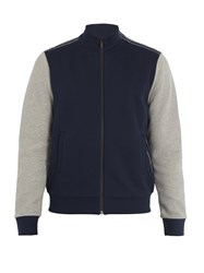 Fendi Logo Tape Jersey Track Jacket Navy Multi