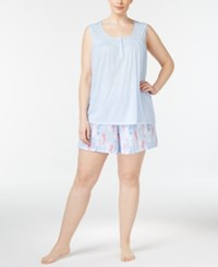 Charter Club Plus Size Tank Top And Boxer Shorts Mix It Pajama Set Only At Macy's Seahorses