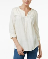 Styleandco. Style Co. Jacquard Roll Tab Tunic Only At Macy's Warm Ivory