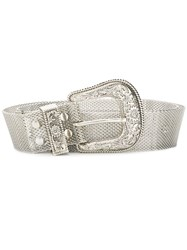 B Low The Belt Western Style Silver