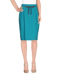 Paul Smith Knee Length Skirts Turquoise
