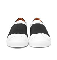Givenchy Elasticated Strap Leather Sneakers White