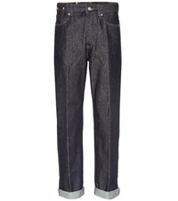 Dries Van Noten Mid Rise Wide Leg Jeans Blue