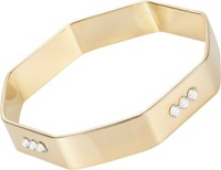 Chamak By Priya Kakkar Crystal Studded Octagonal Bangle Gold