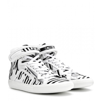 Pierre Hardy Mytheresa.Com Exclusive Leather High Top Sneakers Trico Stripes
