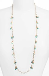 Treasure And Bond 'S Stone Drop Station Necklace Turquoise Gold