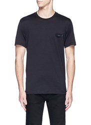 Givenchy Logo Leather Patch T Shirt Black