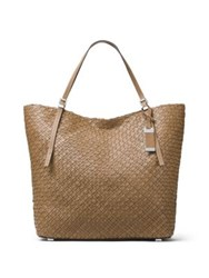 Michael Kors Hutton Woven Leather Tote Luggage