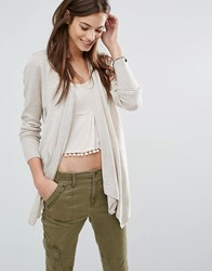 Abercrombie And Fitch Waterfall Cardigan Beige