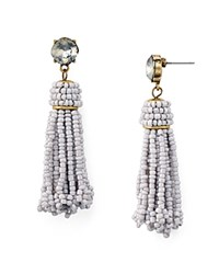 Aqua Beaded Tassel Drop Earrings 100 Exclusive Gray