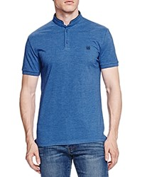 The Kooples New Shiny Pique Slim Fit Polo Blue