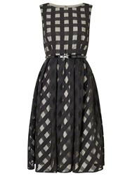 Precis Petite Carley Check Flared Dress Black