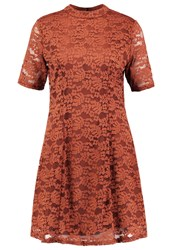 New Look Summer Dress Rust Dark Red