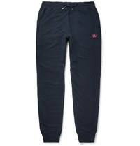 Mcq By Alexander Mcqueen Tapered Cotton Blend Jersey Sweatpants Navy