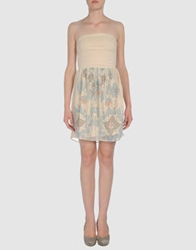 Poems Short Dresses Beige