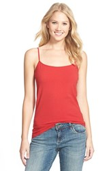 Petite Women's Halogen 'Absolute' Camisole Red Chili