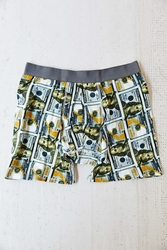 Urban Outfitters New Benjamin's Boxer Brief Green Multi