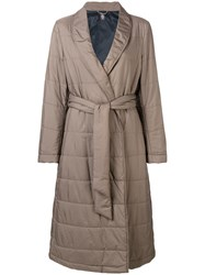 Eleventy Belted Raincoat Nude And Neutrals