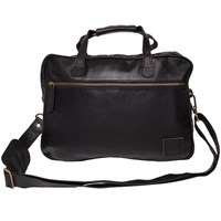 Mahi Leather Compact Lightweight Laptop Work Case Satchel Bag With 13 Capacity In Black