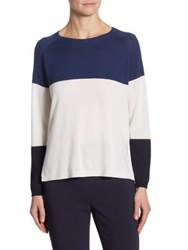 Max Mara Garian Silk And Cashmere Sweater Ultramarine