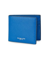 Michael Kors Saffiano Leather Bifold Wallet Electric Blue